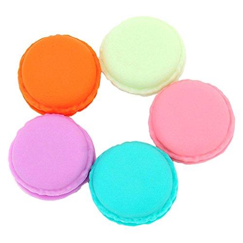 Wilotick Lot de 8 mini-boites de rangement multi-fonction en forme de Macarons - Couleur aléatoire