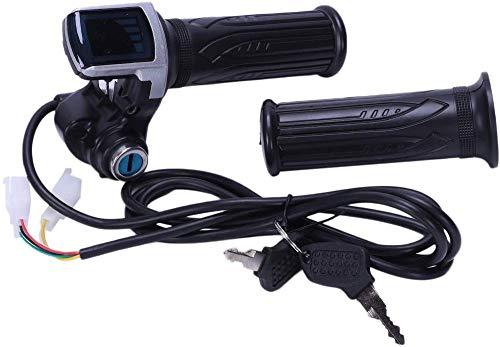 Aeromdale 36 V universal bicicleta eléctrica manija del acelerador con pantalla LED indicador velocidad pantalla de potencia clave bloqueo para scooter eléctrico Twist acelerador