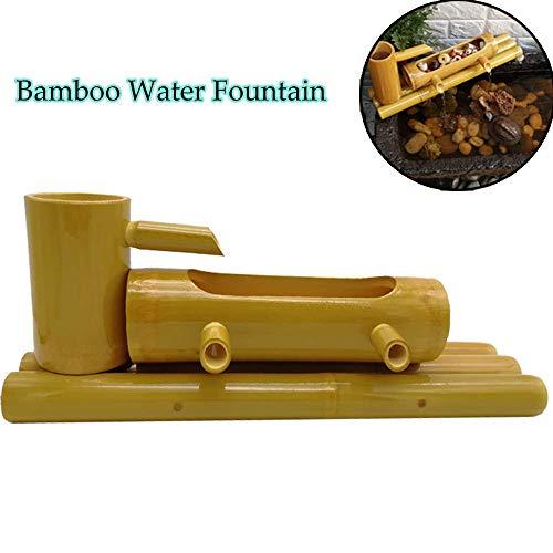 Bambusbrunnen Garten Wasserspiel Dekor Wasserspeier mit Pumpenskulpturen Statuen Figur Wohnkultur Wasserfall Outdoor Japanischer Garten Feature Für Teich Aquarium Innenhof