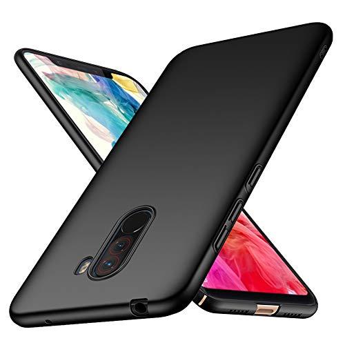 TopACE Cover Xiaomi Pocophone F1 Custodia Xiaomi Pocophone F1 Ultra Sottile Che Cade Superficie Protettiva Opaca Custodia per Pocophone F1 (Nero)