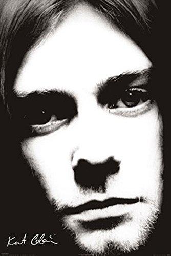Cobain, Kurt - Face - Musikposter Kurt Cobain Alternative Nirvana Grunge Rock - Grösse 61x91,5 cm