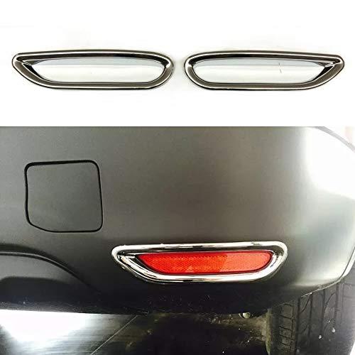 RONSHIN 2 Stks/set voor Nissan Qashqai J11 2014+ ABS Chroom Achterreflector Mistlamp Cover Sticker Decoratie Trim Accessoires