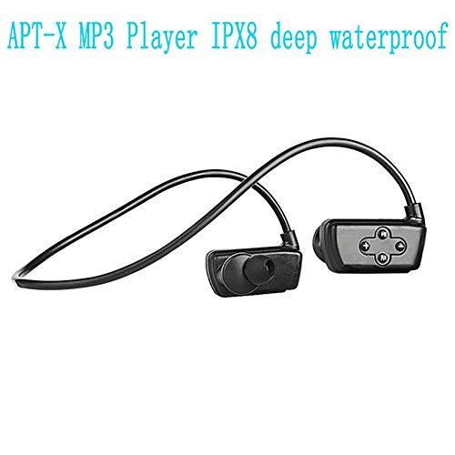HZJ wasserdichte Kopfhörer, Schwimmen MP3-Player Unter Wasser Wasserdicht IPX8 Tiefe Wasserdicht 16GB Bluetooth 4.2 Anrufaufzeichnung Für Schwimmen/Running/Training/Gym