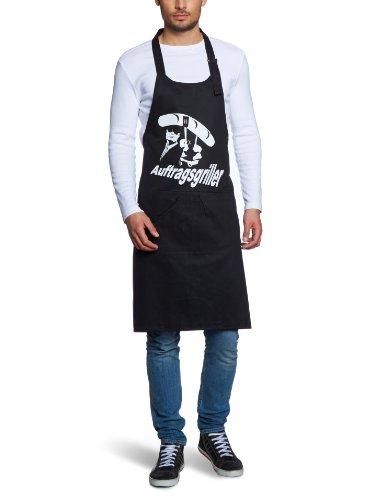 Coole-Fun-T-Shirts Herren Grillschürze AUFTRAGSGRILLER - BBQ GRILLSPORT, schwarz, 10710-schwarz-weiss-Schuerze