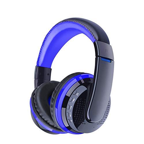 Nologo LYDGVJ Auriculares Bluetooth y Auriculares, bajo Auriculares estéreo de Auriculares Bluetooth for Auriculares inalámbricos Micro SD TF Tarjeta de Radio del Auricular con micrófono de Juegos