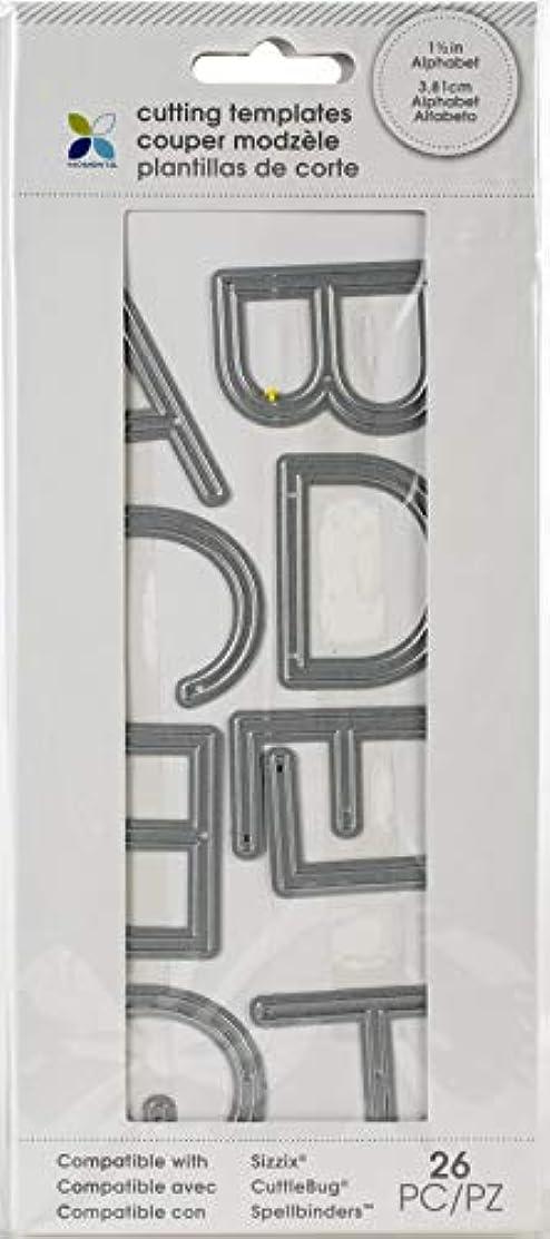 Momenta Die Alpha In Thin San Serif - Full Uppercase Alphabet of Versatile Steel Die Cut Templates - Add Detail to Scrapbooks, Greeting Cards, Mailboxes, Etc.