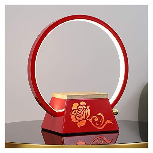SFF LED lámpara de escritorio de carga inalámbrica puerto USB Eye Caring lámpara de mesa 3 modos de color atenuación continua (color: rojo)