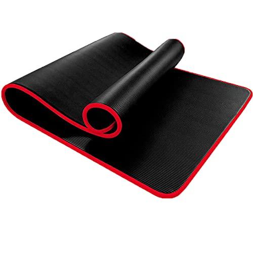 Esterilla Yoga NBR, Colchoneta Yoga Antideslizante Yoga Mat con Líneas de Orientación Alfombrilla Pilates No Tóxico, para Pilates, Fitness