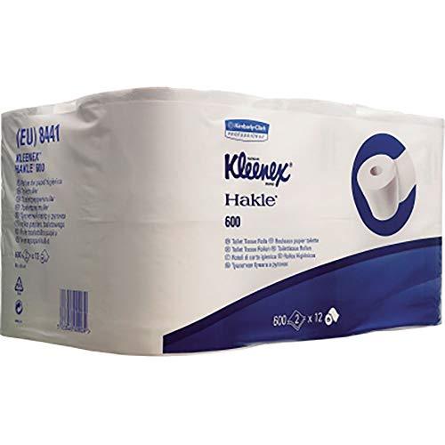 Kleenex 8441 Toilettenpapier Tissue 2-lagig hochweiß 6x6 Rollen 600 Bl