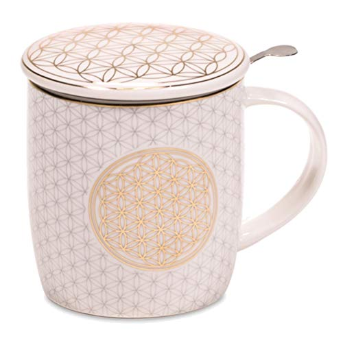 Geschenkbox Tee-Ei Tasse Blume des Lebens