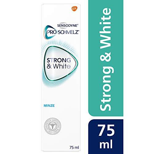 Sensodyne ProSchmelz STRONG&White, tägliche Whitening Zahnpasta mit Fluorid, bei säurebedingtem Zahnschmelzabbau, 1x75ml,