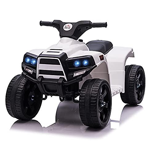 HOMCOM Voiture 4x4 Quad Buggy électrique Enfant 18-36 Mois 6 V 3 Km/h Max. Effet Lumineux sonores...