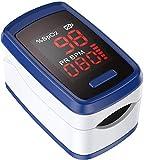 Oxímetro de Pulso, AGPTEK Portátil Pulsioximetro de Dedo Digital Lectura Instantánea con Pantalla LED, Lanyard, Azul