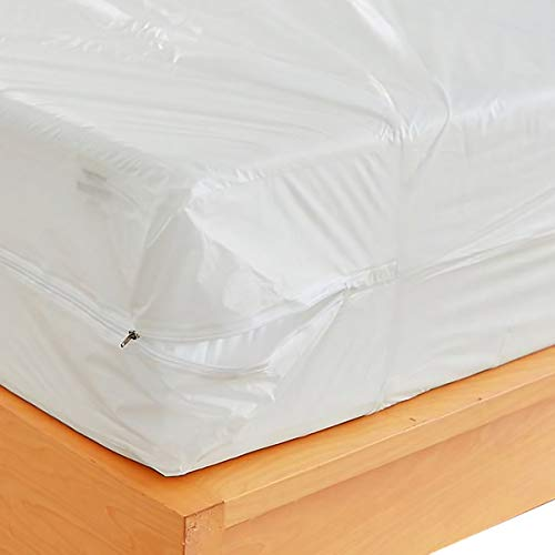 Waterproof Zippered Plastic Mattress Protector Encasement,...