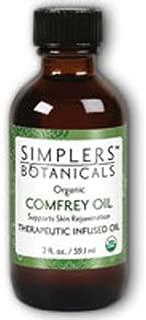 Living Flower Essences Simplers Botanicals Infused Oil Organic, Comfrey, 1 Fluid Ounce