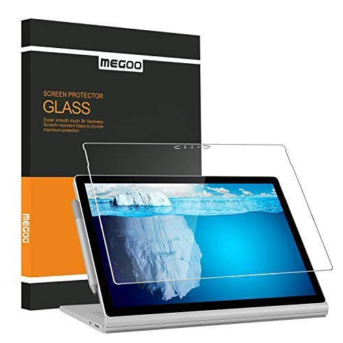 Megoo Screen Protector for Surface Book 2 15 Inch, Tempered Glass/Easy Installation/Anti-Scratch, Compatible with Microsoft Surface Pen