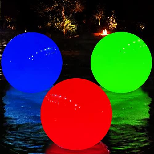 Luci Galleggianti Piscina, Luci per Vasca Idromassaggio Cambio Colore Energia Solare, Sfera Luminosa LED Giardino Impermeabili IP68, Sfera Illuminata Piscina per Notte Decorativa,On/Off Automatico-1pz