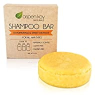 Solid Shampoo Bar, Made With Natural & Organic Ingredients, Sulfate-Free, Cruelty-Free & Vegan, All Hair Types, 3 Ounce Bar. (Citrus)