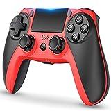 Maegoo Mando Inalámbrico para PS4, Mandos PS4 Gamepad Joystick para PS4/PS4 Slim/Pro, Bluetooth PS4 Mando con Dual Vibración, Somatosensorial de 6 Ejes, Panel Táctil, Audio