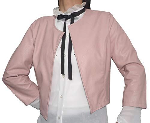 Bolero elegante para ceremonias de piel sintética de mujer y niña, de colores, casual, simple