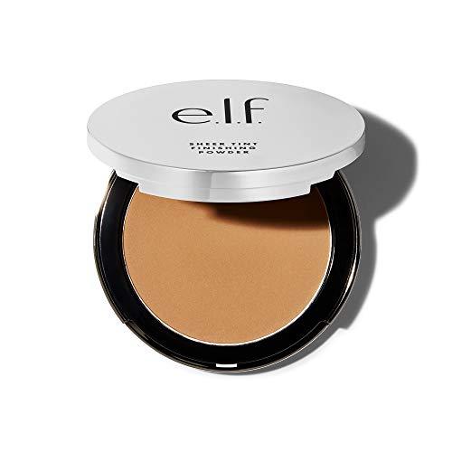 e.l.f, Beautifully Bare Sheer Tint Finishing Powder, Mattifying, Silky, Light Coverage, Long Lasting, Controls Shine, Creates a Flawless Face, Light/Medium, All-Day Wear, 0.33 Oz