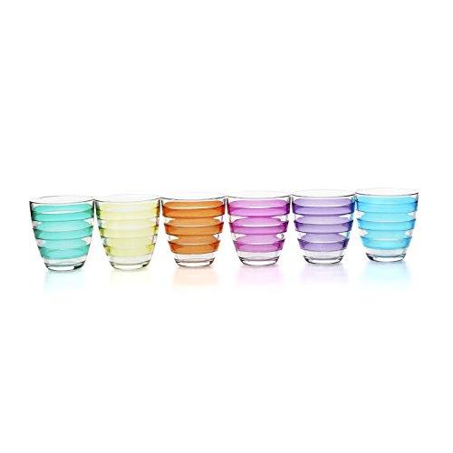 Set bicchieri Pasabahce in vetro colorato, 6 pezzi Multicolore