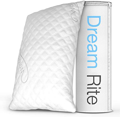 WonderSleep Dream Rite Shredded Hypoallergenic Memory Foam Pillow Series Luxury Adjustable Loft Home Pillow Hotel Collection Grade Washable Removable Cooling Bamboo Derived Rayon Cover- Queen 1 Pack