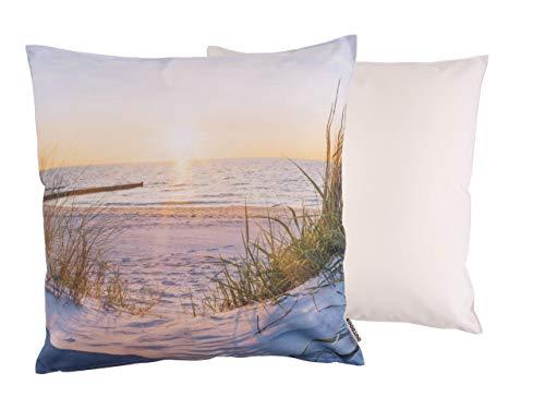 CB Home & Style Outdoor Garten Kissen Wasserabweisend 45 x 45 cm Strand (Dünen)