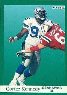 Cortez Kennedy Football Card (Seattle Seahawks) 1991 Fleer #190
