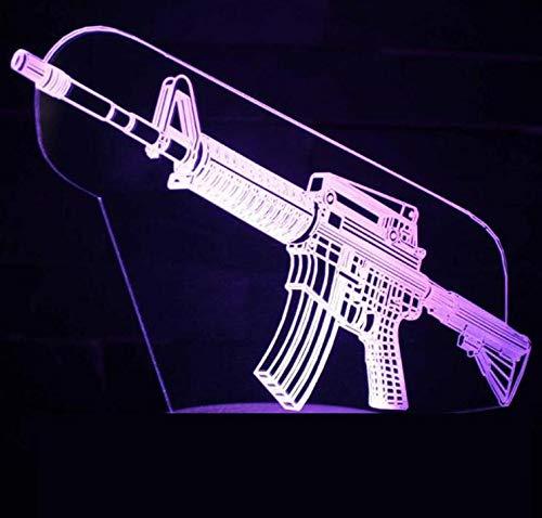 3D-Schießstrategie Überlebensspiel Charakter Scharfschütze Overwatch OW Waffe Pistole Gewehr Maschinenpistole Led Tischlampe Kinder Geschenk Nachtlicht Home Decoration