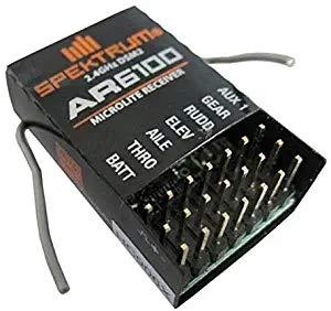 LHTGORN Spektrum 2.4G 6ch DSM2 AR6100 Receiver for DSX7/DSX9/DSX11/DSX12 DX6i/DX7/DX8 - Black