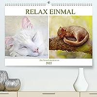 Relax einmal - Die Tierwelt macht es vor (Premium, hochwertiger DIN A2 Wandkalender 2022, Kunstdruck in Hochglanz): Tiere am traeumen und chillen (Monatskalender, 14 Seiten )