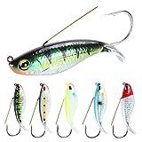 Señuelos de pesca Minnow VIB FURLES Ojos de pesca 3D Switebait señuelo Popper Crankbait Pesca Cebo 6PCS / Set Fishing Seures Hard Bait suministros de pesca ( Color : Multi-colored , Tamaño : 8.5cm )