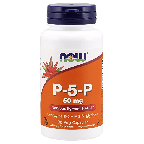 Now Foods P-5-P 50mg Vitamin B-6 Pyridoxin Mg Bisglycinat 90 Kapseln
