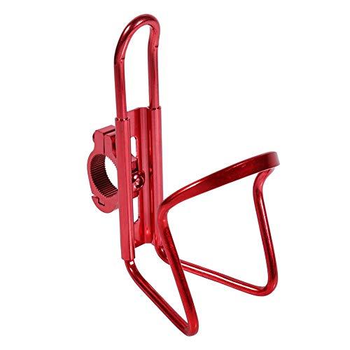 Fydun Portavasos Motocicleta Práctico Duradero portabotellas Aleación de aluminio ligero para 7/8'' Manillar Motocicleta Bicicleta(rojo)