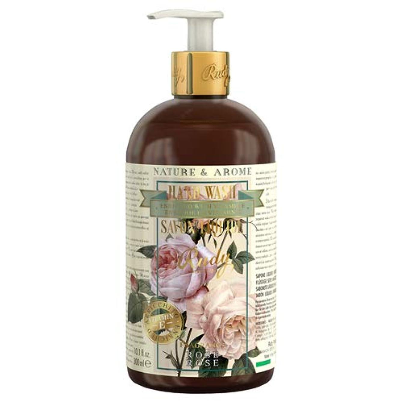 羽書き込み穏やかなRUDY Nature&Arome Apothecary ネイチャーアロマ アポセカリー Hand Wash ハンドウォッシュ(ボディソープ) Rose ローズ