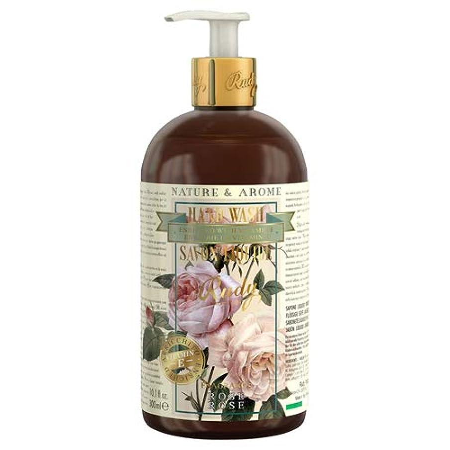 緊張ねばねば豊富なRUDY Nature&Arome Apothecary ネイチャーアロマ アポセカリー Hand Wash ハンドウォッシュ(ボディソープ) Rose ローズ