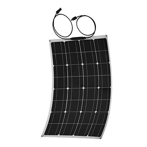 Zer one Panel Solar monocristalino, 60 vatios 18V Módulo Solar fotovoltaico fotovoltaico para Carga de Autocaravana Caravana de campaña Camper Boat o yate