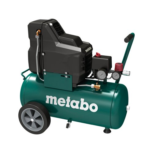 Metabo Compresseur pour outil à air comprimé Basic 250-24 W OF / 8 bars Compresseur pour applications mobiles / sans huile avec manomètre