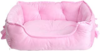 Cat Bed Cushion Bed, Orthopedic Cat Bed Comfortable Donut Cuddler Round Cat Bed Ultra Soft Washable Self-Warming Pet Bolst...