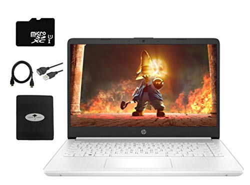 2020 Newest HP Stream 14' HD Laptop, Intel Celeron N4020(Up tp 2.8GHz), 4GB RAM, 64GB eMMC, 1yr MS Office 365, Webcam, HDMI, USB Type-A&C, Fast Charge, WiFi, Bluetooth,w/128GB SD Card, GM Accessories