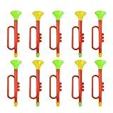 TOYANDONA 10 Piezas de Juguete de Trompeta de Plástico Fiesta de Cumpleaños Fabricantes de Ruido Vítores Prop Trompeta de Juguete para Fiesta de Carnaval (Color Aleatorio)