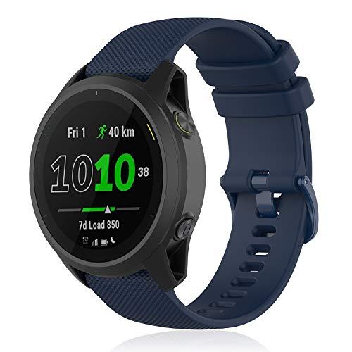 TOPsic Forerunner 745 Cinturino Huawei Watch GT 2 46mm/Huawei GT Sport/Active/Elegant/Classic Braccialetto Silicone Polsino Banda 22mm Cinturino per Galaxy Watch 3 45mm/46mm/Gear S3 Frontier/Classic