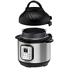 The Instant Pot That Air Fries: The hottest new multi-cooker from the makers of the all-time bestselling Duo series, the Instant Pot Duo Crisp is a pressure cooker and air fryer with 2 convenient, removable lids 11-In-1 One-Touch Cooking Programs: Pu...
