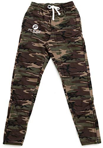 FlexzFitness Gym Fitted Activewear Sweatpants, Bodybuilding & Lifting, Durable & Stylish, Camo, Size Medium