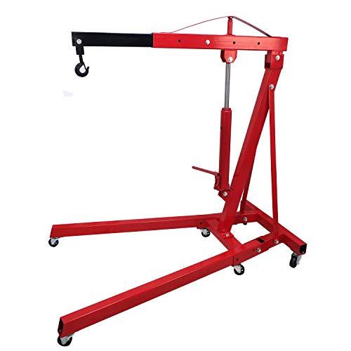 HTTMT- 2 TON Red 4400lb Heavy Duty Engine Motor Hoist Cherry Picker Shop Crane Lift [P/N: ET-CAR-FIX005-2T-RED]