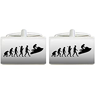 Evolution of Jet Ski Design Cufflinks in Gift Box