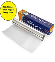 ULTRA THICK / HEAVY DUTY: Our Heavy Duty foil are ULTRA THICK Which is 18% thicker than the heavy duty foil brands you consider as heavy duty. You'll Just Love it! QUALITY: High quality aluminum foil on the toughest jobs from the freezer to the oven ...