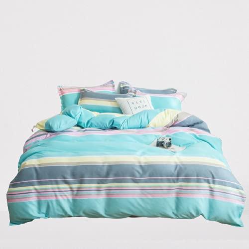 Ropa De Cama Textiles para El Hogar Funda Nórdica Funda De Almohada Cómodo Suave Simple Atmosférico Duradero Y Fácil De Limpiar 180x220cm