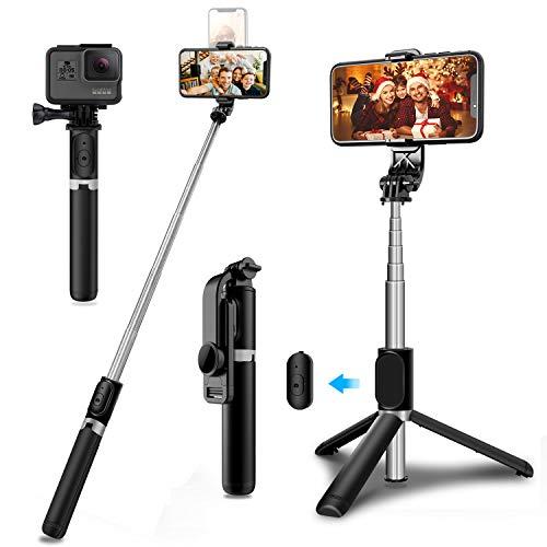 SYOSIN Palo Selfie Trípode, Extensible 1.03m Selfie Stick con Control Remoto Compatible para iPhone Samsung Xiaomi Huawei